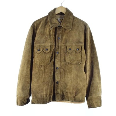 60年代 BERCO スエードレザーシャツジャケット 42 メンズL ヴィンテージ /eaa100169