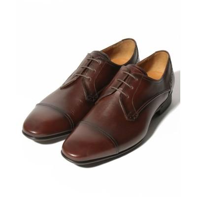 【クラウン製靴】 ストレートチップシューズ メンズ ダーク ブラウン 26 CROWN SHOE CO.、LTD.