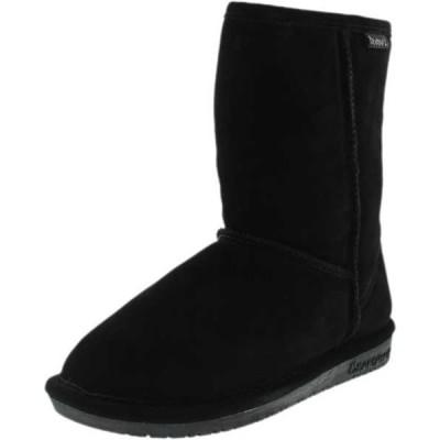 ブーツ シューズ 靴 ベアパウ Bearpaw  レディース Emma ショート アンクル スエード ブーツ Black