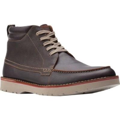 クラークス ブーツ&レインブーツ シューズ メンズ Vargo Moc Toe Boot (Men's) Brown Tumbled Leather