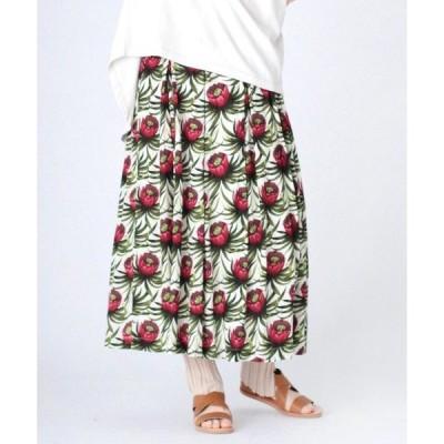 スカート G0963 フラワープリントスカート
