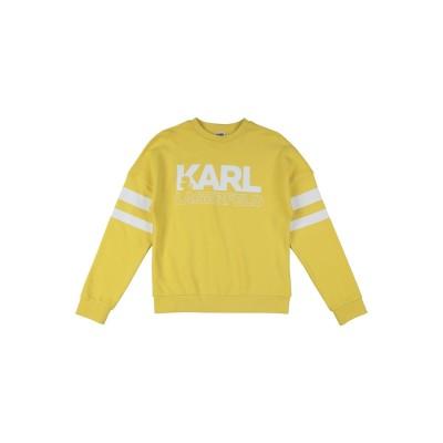 カールラガーフェルド KARL LAGERFELD スウェットシャツ イエロー 6 コットン 87% / ポリエステル 13% / ポリウレタン ス