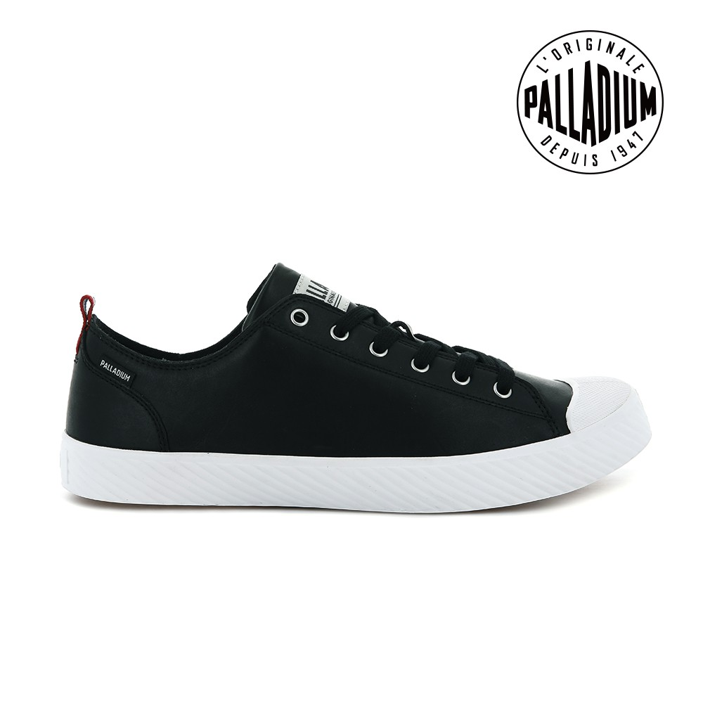 PALLADIUM PALLAPHOENIX LOW LTH皮革鞋-女-黑 / 白
