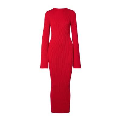 SOLACE LONDON ロングワンピース&ドレス レッド 4 コットン 57% / レーヨン 43% ロングワンピース&ドレス