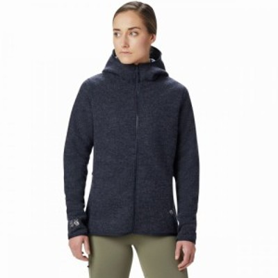 マウンテンハードウェア Mountain Hardwear レディース フリース フード トップス Hatcher Full - Zip Hooded Jacket Dark Zinc