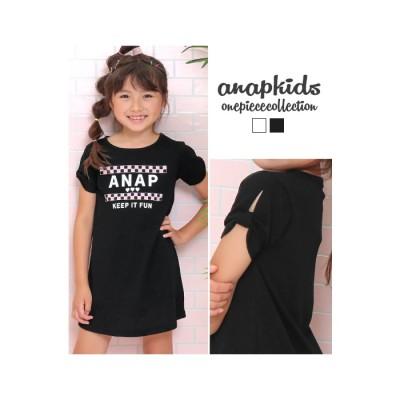ANAP 肩リボンワンピース / ANAP KIDS / 427-1960 ブラック 100 キッズ
