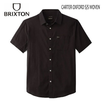 BRIXTON,ブリクストン/21SP/半袖オックスフォードシャツ/CHARTER OXFORD S/S WOVEN/BLACK・ブラック/メンズ/無地/ストレッチ