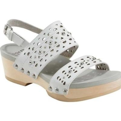 カルソーアースシューズ Earth レディース サンダル・ミュール シューズ・靴 Pine Toba Strappy Sandal White Leather