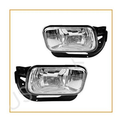 Driving Fog ライトsランプs Replacement for 2009-2010 ダッジ ラム 1500 2500 3500/10-18 ラム 1500 2500 3500 with H10 12V 42W Halogen Bulbs & Bracke