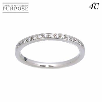 4℃ ヨンドシー ハーフエタニティ 11号 リング ダイヤ Pt プラチナ 指輪 Diamond Rng