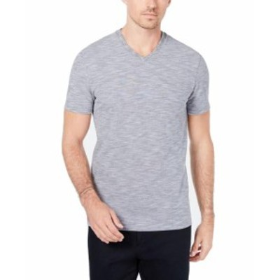 Ryan  ファッション トップス RYAN SEACREST Distinction NEW Blue Men Medium M Stripe V Neck T-Shirt