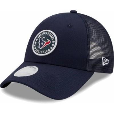 ニューエラ レディース 帽子 アクセサリー New Era Women's Houston Texans Navy Sparkle Adjustable Trucker Hat