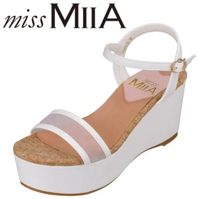 ミスミーア miss MIIA MA5750 レディース | サンダル | ウェッジソール | シースルー 透け感 | 厚底 | ホワイト
