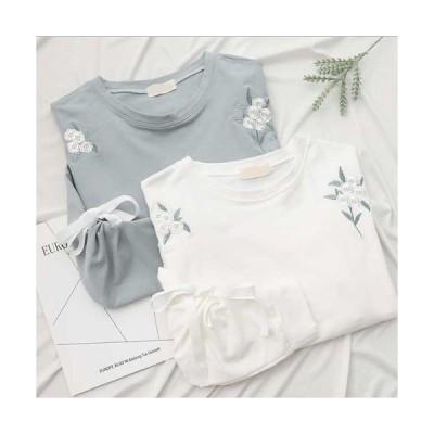tしゃつ半袖tシャツ 七分 バルーン 人気tシャツ 刺繍シャツ tシャツ