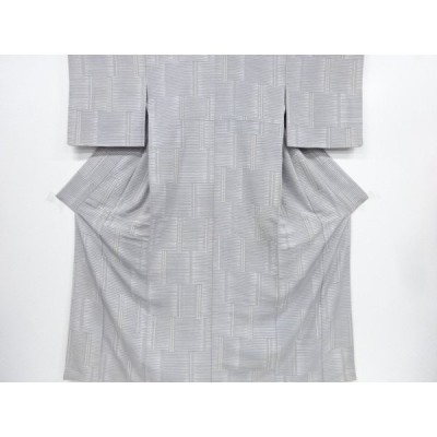 宗sou 未使用品 仕立て上がり 幾何学模様小紋着物【着】