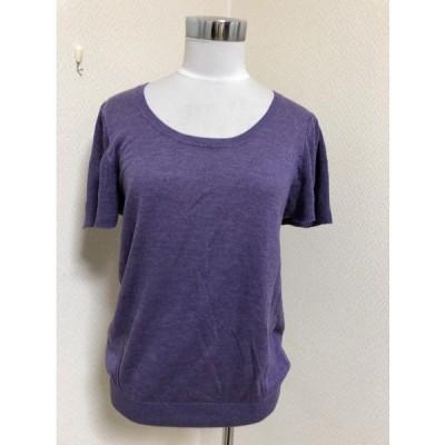 クレドソル フレア袖 半そでニット/セーター紫M