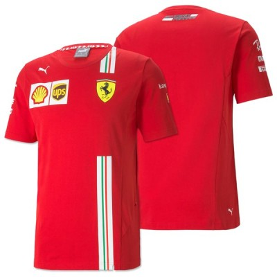 2021 PUMA スクーデリア フェラーリ チーム オフィシャル カルロス サインツ ドライバーズ Tシャツ Ferrari
