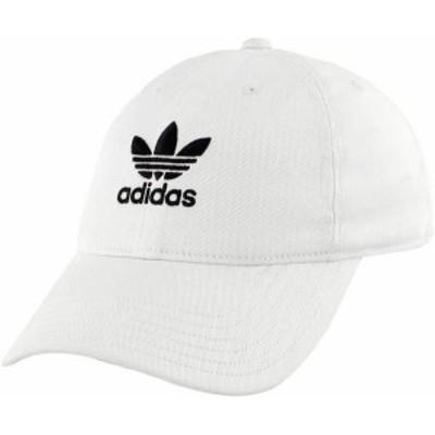 アディダス レディース 帽子 アクセサリー adidas Originals Women's Relaxed Strapback Hat White