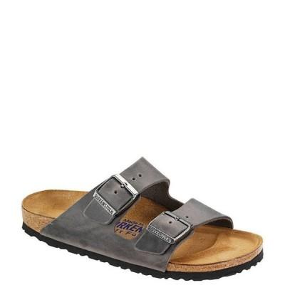 ビルケンシュトック メンズ サンダル シューズ Arizona Men's Oiled Leather Soft Footbed Slip On Sandals