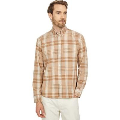ビリー レイド Billy Reid メンズ シャツ トップス Offset Pocket Shirt Brown