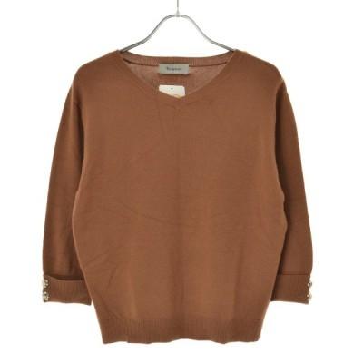 Rirandture / リランドチュール ビジュー付 七分袖ニットセーター
