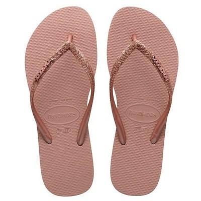 ハワイアナス レディース サンダル シューズ Women's Slim Glitter Flip Flops