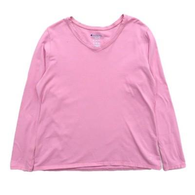 古着 チャンピオン Champion ロングスリーブTシャツ ロンT 長袖 ピンク サイズ表記:L