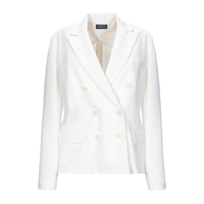 POLO RALPH LAUREN テーラードジャケット ホワイト 6 コットン 62% / ポリエステル 18% / テンセル 13% / ポリウ