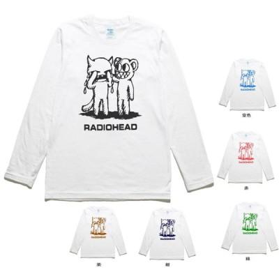 バンド 音楽 RADIOHEAD 2 長袖 ロングスリーブ Tシャツ 白