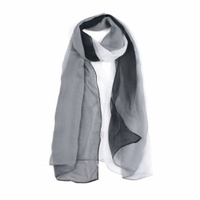 uxcell 海外出荷 ロングスカー シフォン 軽量 春夏 薄手 女性用 ブラック/ホワイト 160x50cm