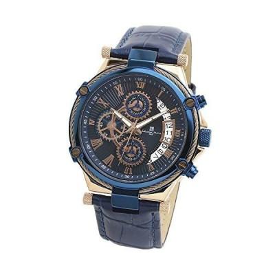 [ サルバトーレマーラ ] Salvatore Marra 腕時計 メンズ 革ベルト ビジネス アナログ イタリア ブランド (ピンクゴール
