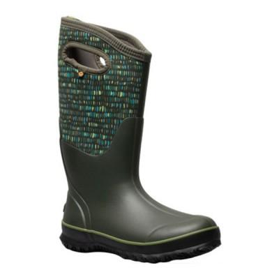 ボグス レディース ブーツ&レインブーツ シューズ Classic Tall Boot Dark Green Twinkle Multi Rubber/Textile