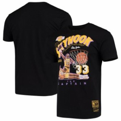 Mitchell & Ness ミッチェル アンド ネス スポーツ用品  Mitchell & Ness Kareem Abdul-Jabbar Los Angeles Lakers Black Skyhook T-Shir