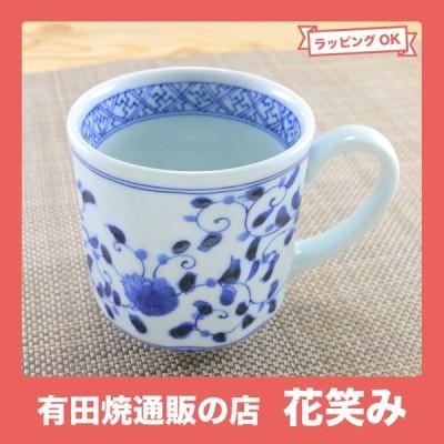 マグカップ 美濃焼 藍凛唐草八角マグ 染付|和食器 陶器 三階菱