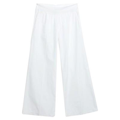 EUROPEAN CULTURE パンツ ホワイト XS コットン 99% / ポリウレタン 1% パンツ