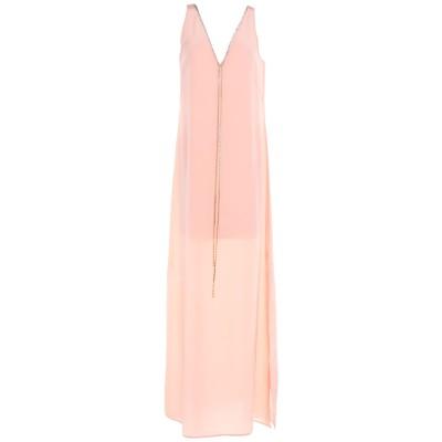 エリカ カヴァリーニ ERIKA CAVALLINI ロングワンピース&ドレス ピンク 42 シルク 100% ロングワンピース&ドレス