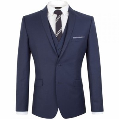 ライムハウス Limehaus メンズ スーツ・ジャケット アウター Plain Twill Slim Fit Jacket Sapphire Blue