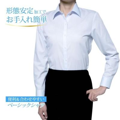 レディースシャツ 長袖 形態安定 標準型 PLATEAU P31PLA557