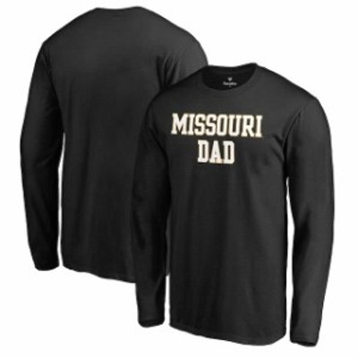 Fanatics Branded ファナティクス ブランド スポーツ用品  Fanatics Branded Missouri Tigers Black Big & Tall Team Dad Long Sleeve T-