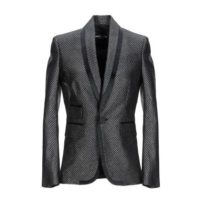 ディースクエアード DSQUARED2 テーラードジャケット ブラック 40 ポリエステル 95% / ナイロン 5% / シルク テーラードジャケ