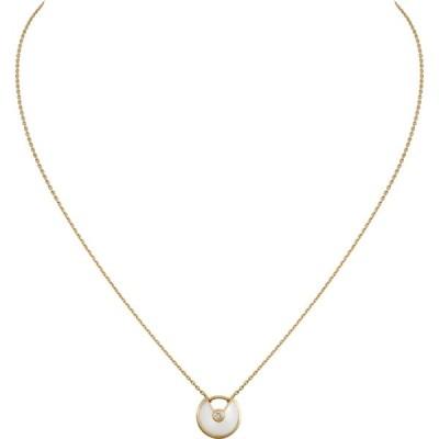カルティエ CARTIER ネックレス イエローゴールド 18K ダイヤモンド マザーオブパール XS