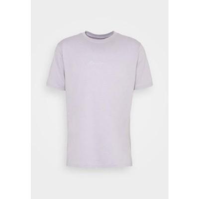 メンネイス メンズ ファッション UNISEX ESSENTIAL DROP SHOULDER SS T SHIRT - Print T-shirt - purple