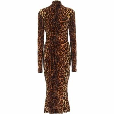 ノーマ カマリ Norma Kamali レディース ワンピース ミドル丈 ワンピース・ドレス Leopard-Print Jersey Midi Dress Pantera