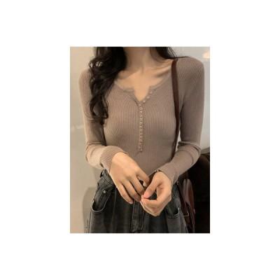 【送料無料】気質 着やせ 着やせ ボトムシャツ 年 秋 韓国風 ベーシックデザイン | 346770_A63874-3026368