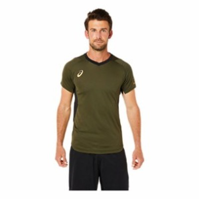 EL ショートスリーブトップ ASICS アシックス SAバレ-ボ-ル Tシャツ ポロシャツ (2051a291-300)