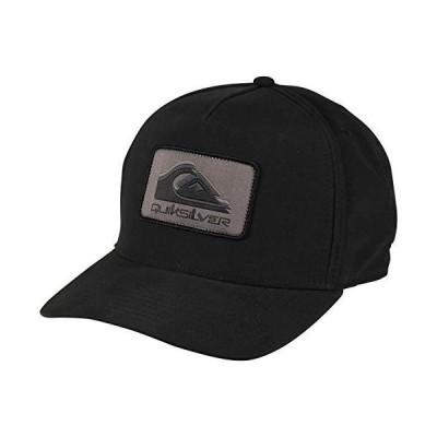 Quiksilver Men's Snapback Trucker Hat, Black Drainers, 1SZ