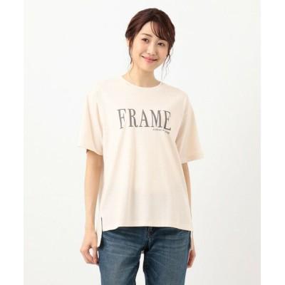 any FAM/エニィファム オーガビッツプリント Tシャツ ピンク系 F