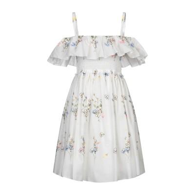 ブルーガール ブルマリン BLUGIRL BLUMARINE ミニワンピース&ドレス ホワイト 44 コットン 40% / レーヨン 40% / ポ