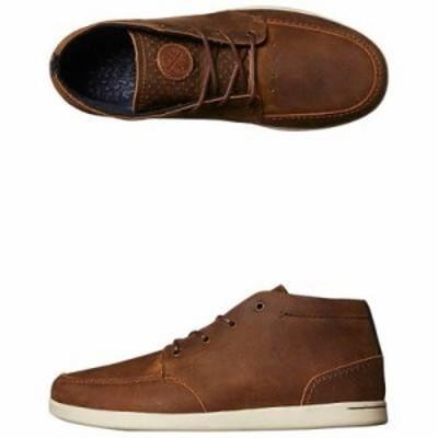 リーフ スニーカー Spiniker Mid Nb Leather Shoe Brown