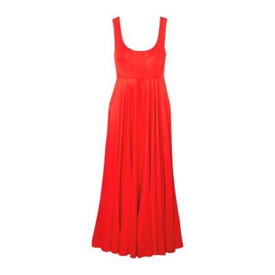 SOLACE LONDON ロングワンピース&ドレス レッド 10 レーヨン 50% / レーヨン 50% ロングワンピース&ドレス